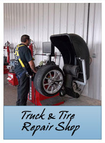 Truck and tire Repair Shop, Unadilla, GA